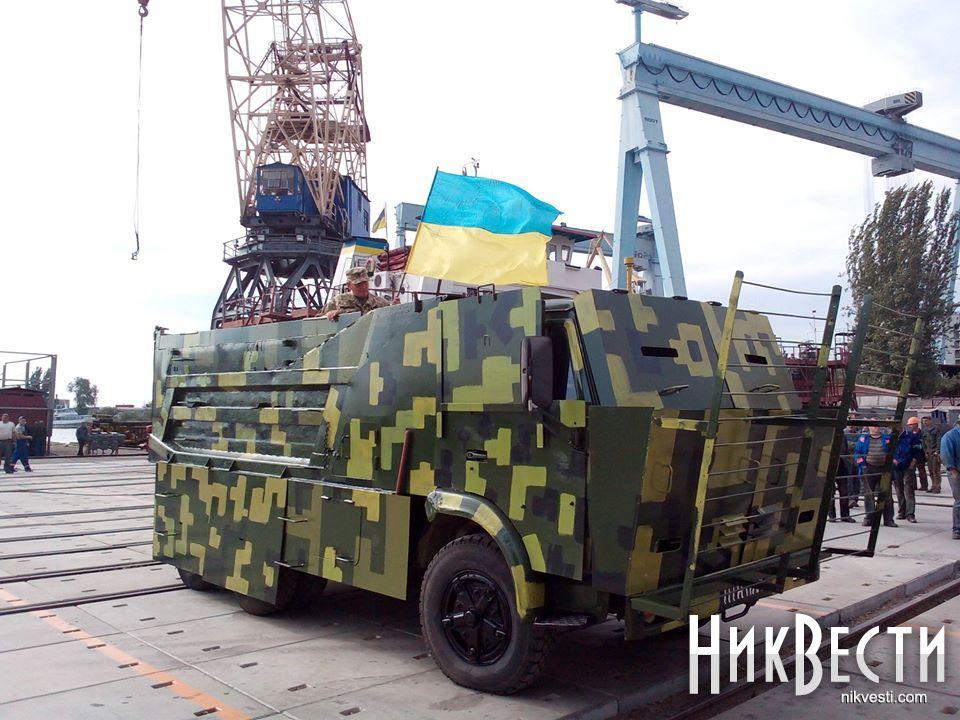 НИБУЛОН передал николаевским десантникам бронированный КамАЗ