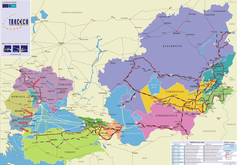 схема дороги европа-западный китай