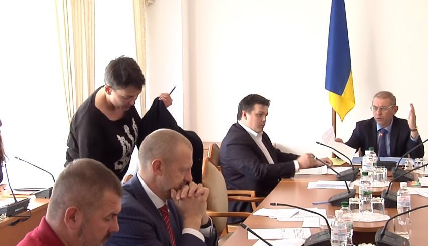 Савченко устроила скандал на совещании комитета Верховной Рады
