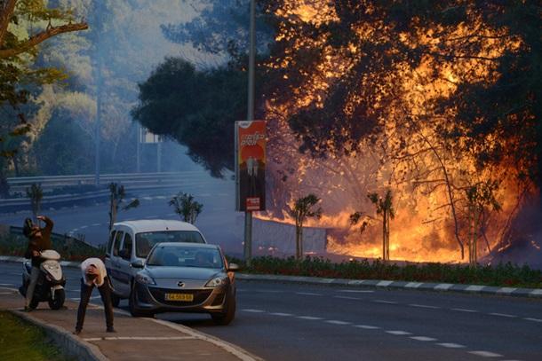ВИзраиле из-за пожаров эвакуированы 50 000 человек
