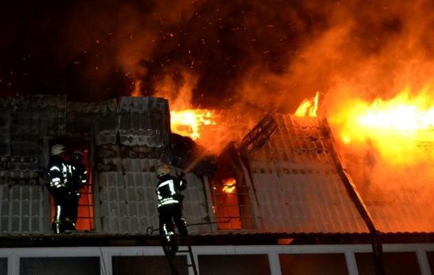 ВОдессе произошел масштабный пожар вновострое
