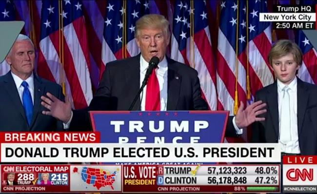 «Пришло время объединиться»— победная речь Дональда Трампа поитогам выборов