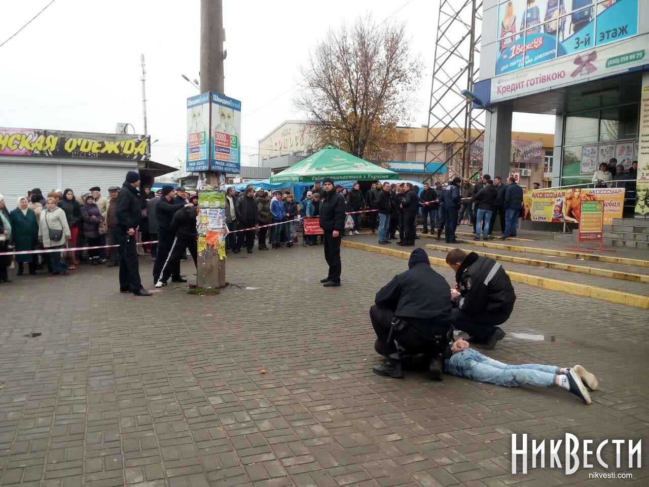 Взрывоопасное задержание. ВНиколаеве коп выхватил умолодчика гранату соторванной чекой