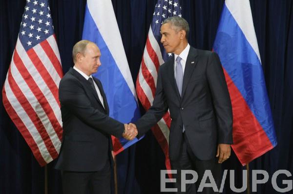 Песков: Разговор В.Путина иОбамы велся по обыкновенной телефонной линии