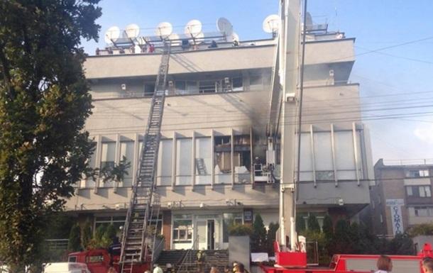 Всвязи спожаром вмногоэтажном здании украинского канала «Интер» задержаны шесть человек