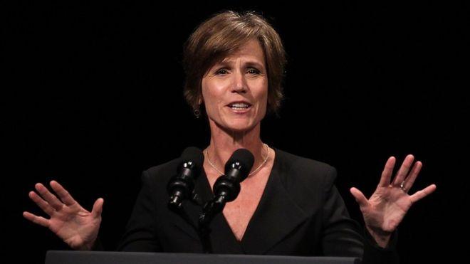 Трамп отстранил исполняющую обязанности генерального прокурора США Салли Йейтс отдолжности