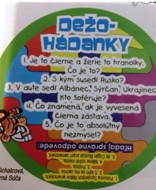 Детский журнал вСловакии обнародовал  издевательские загадки обукраинцах