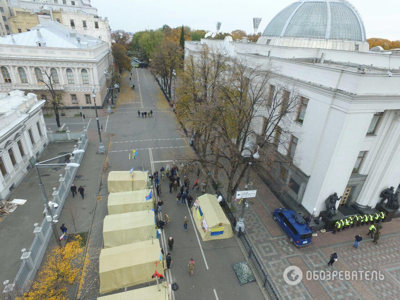 ВКиеве задержали мужчину, идущего свинтовкой намитинг около Рады