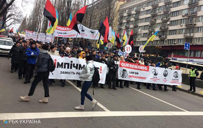 ВКиеве закончился митинг участников «Марша заимпичмент»