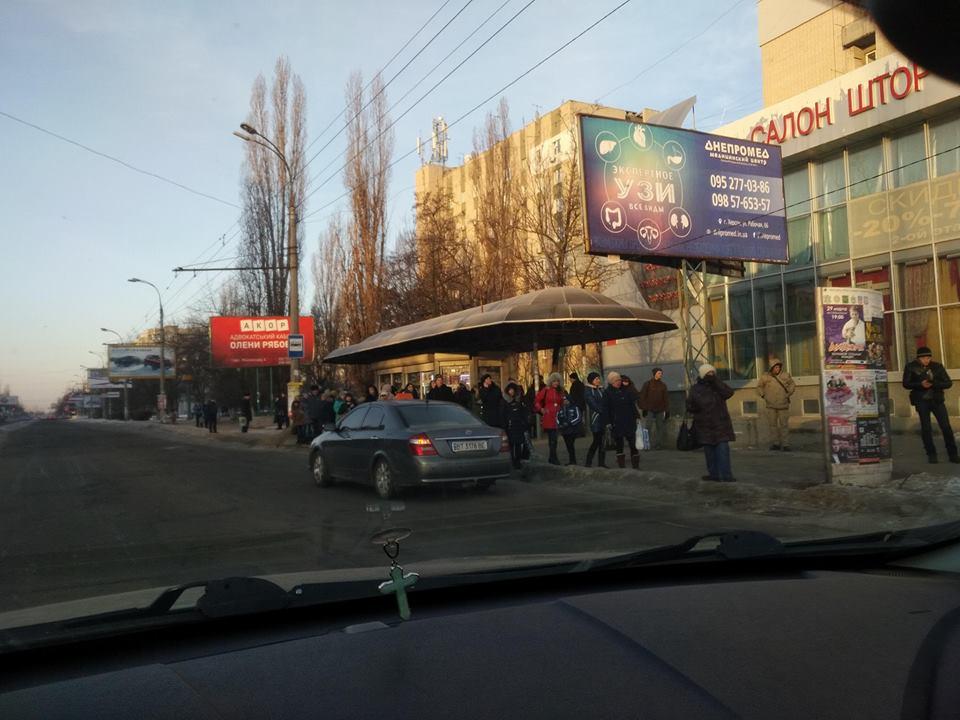 ВХерсоне маршрутчики отказываются возить пассажиров