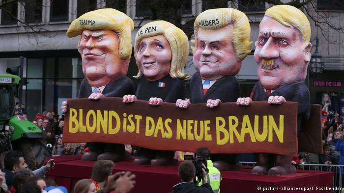 Накарнавале вГермании высмеяли В.Путина иТрампа: появились фото