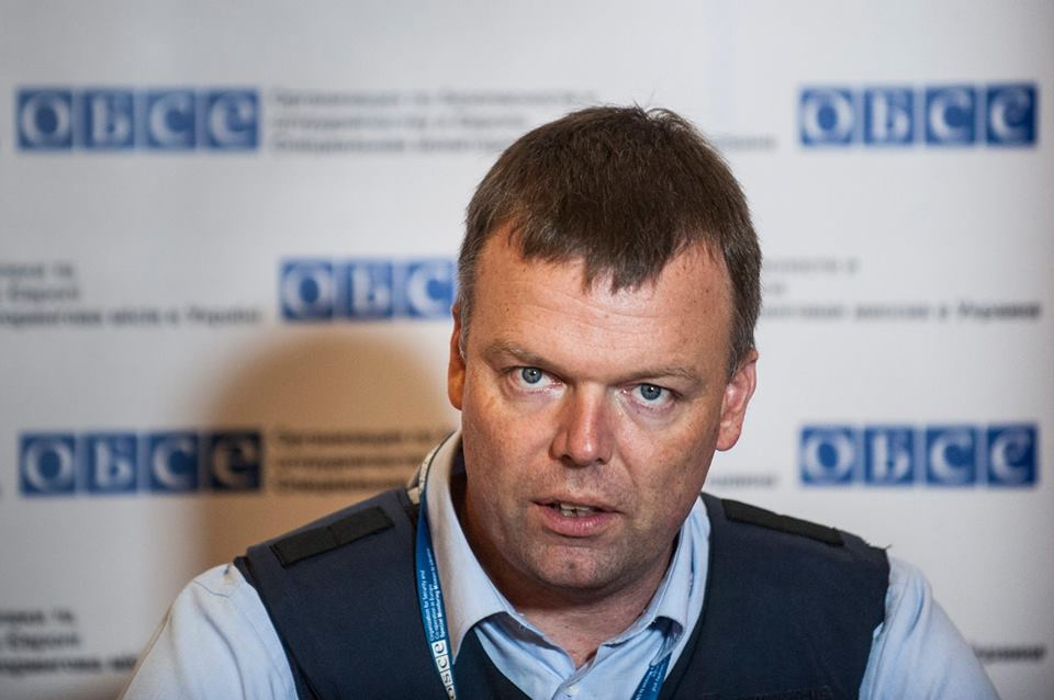 Хуг: Боевики обстреляли наблюдателей миссии ОБСЕ