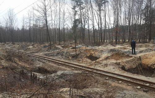 Копатели янтаря повредили железнодорожную колею вРивненской области,— «Укрзализныця»