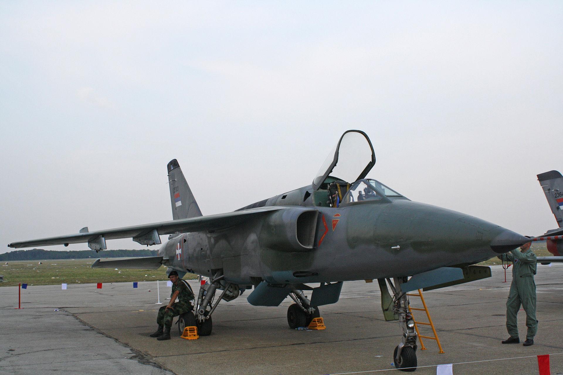 ВСербии потерпел крушение военный самолёт