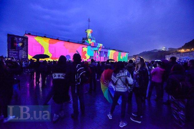 НаПочтовой площади стартовал Kyiv Lights Festival