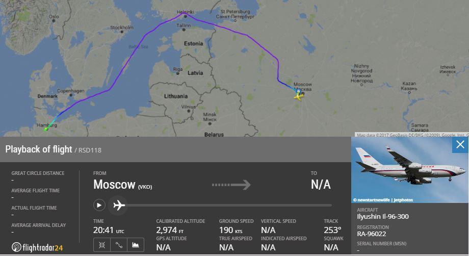 Самолет Владимира Путина сделал крюк ради полета мимо стран НАТО