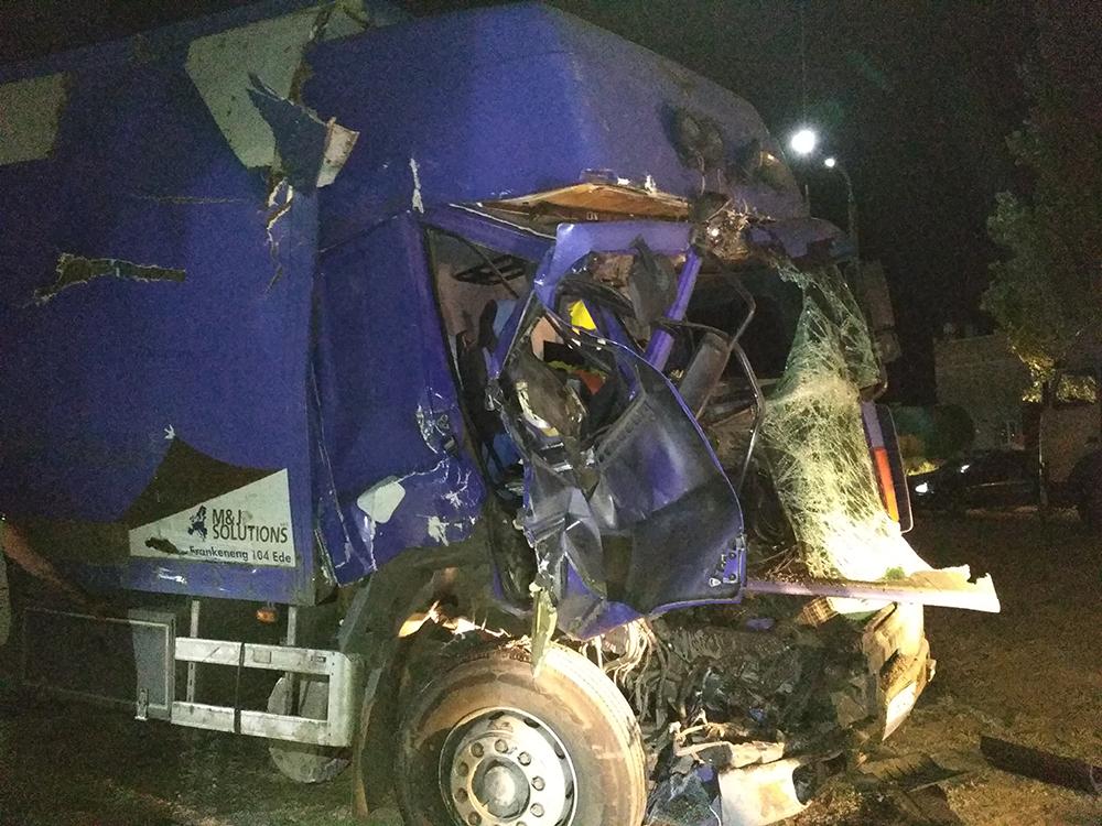 ВНиколаевской области столкнулись три фургона, есть погибший