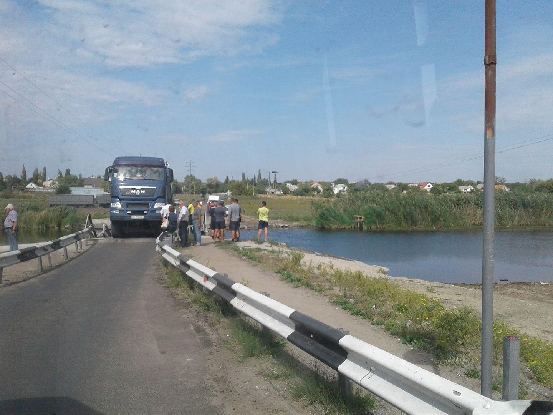 НаНиколаевщине грузовой автомобиль разрушил мост