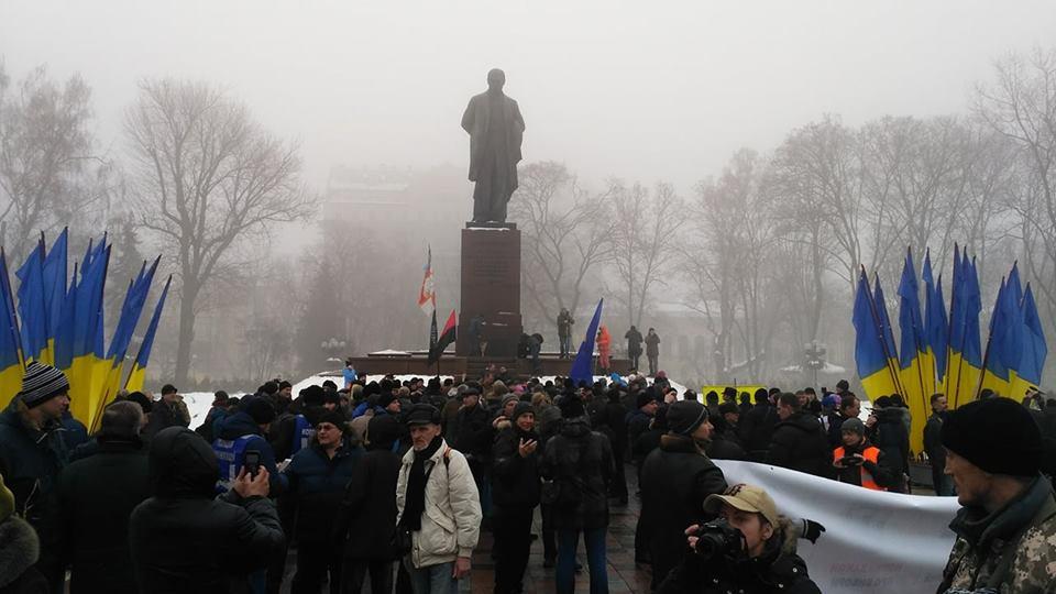 Помешать Порошенко: вцентре столицы Украины сторонники Саакашвили прорвались через кордон милиции