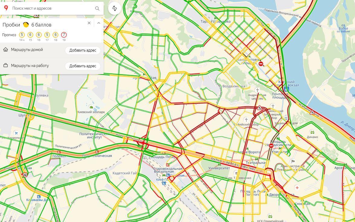 Встолице транспортный коллапс: Киев стоит в немалых  пробках