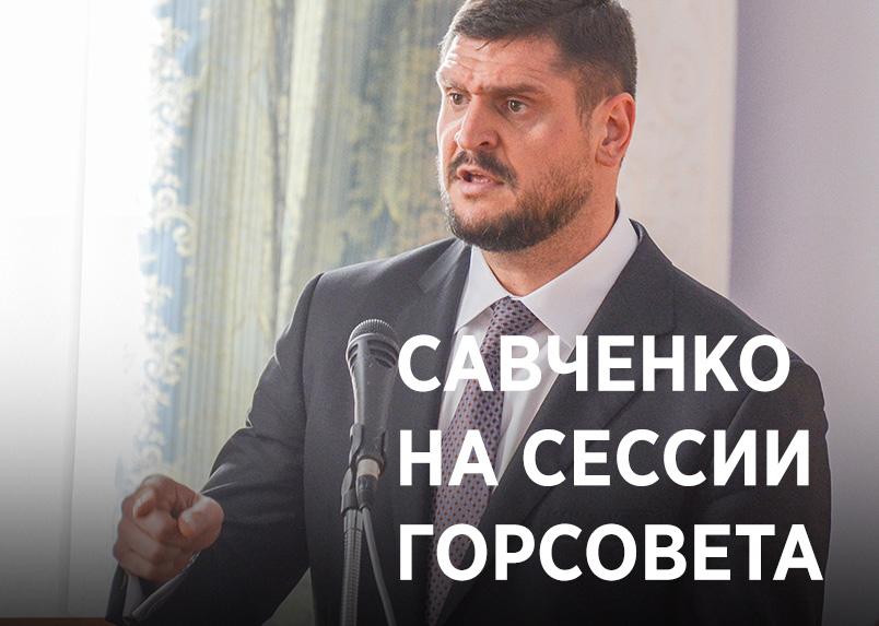 Савченко на сессии горсовета