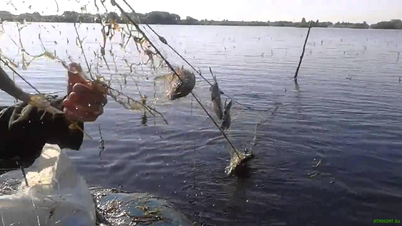 Ловля рыбы на малых реках сетями